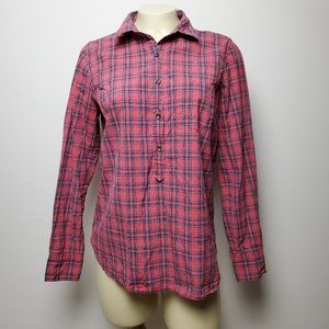 J. CREW RED PLAID BUTTON-UP LONG SLEEVES SIZE 4